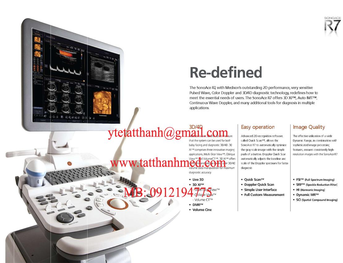 Máy siêu âm 4D SonoAce R7